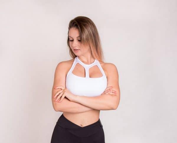 Black Swan Sportswear white bra