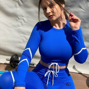 BLUE LAGOON long sleeve crop top