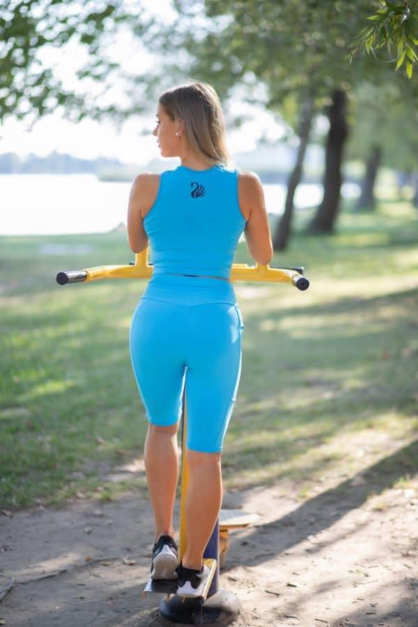 Black Swan Sportswear Baby Blue cycling short