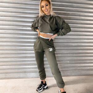 COZY KHAKI oversized hoodie